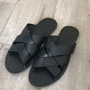 Madewell woven boardwalk sandal in black